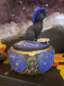 Black Cat Witches Hat Box