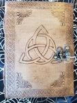 Light Leather Triquetra Journal