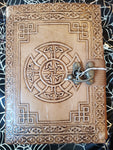 Light Leather Celtic Cross Journal