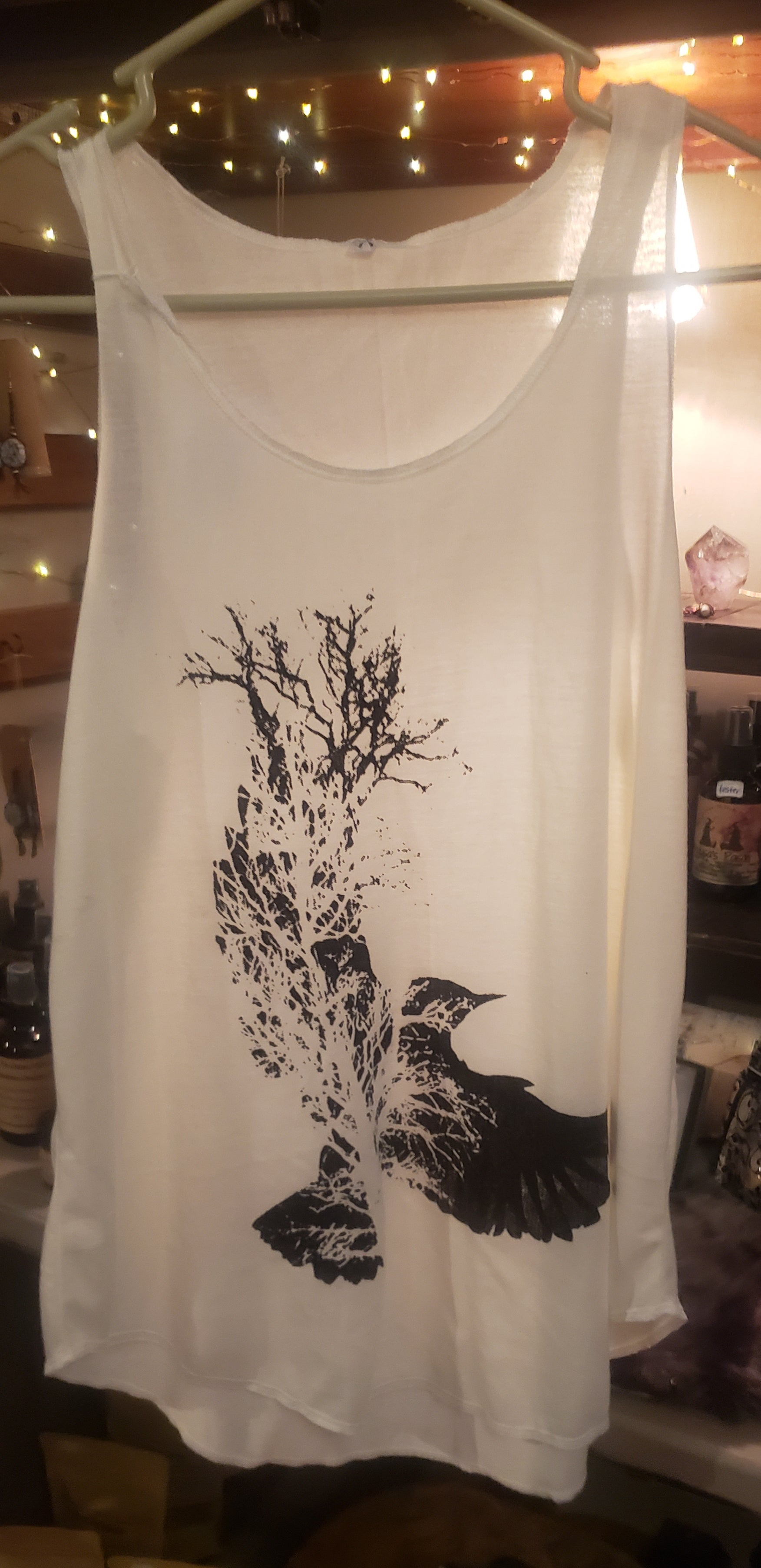 Raven with Tree Tank-Top