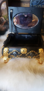 Gold and Black Skull Jewelry Box