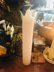 "White 9"" Pillar Candle"