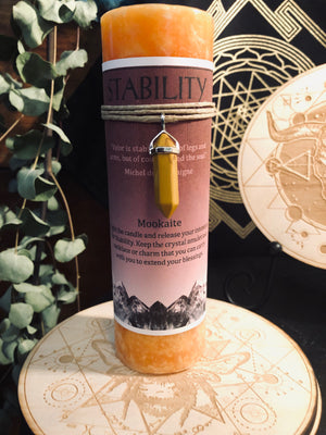 Crystal Guidance Pillar Candles