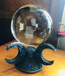 Triple Goddess Stand with Crystal Sphere