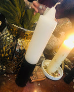 "Black and White 9"" Pillar Candles"