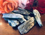 Small and Large Pieces of Blue Kyanite Pieces