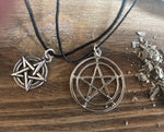 Sterling Silver Pentacle Necklaces