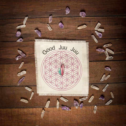 Good Juu Juu crystal inspired subscription box Mystic Moonat Blue Moon customized Crystal grids for Good Juu Juu