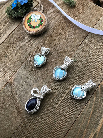 Victoria Hardwick Luck Wraps Wired Crystal Pendants - Good Juu Juu