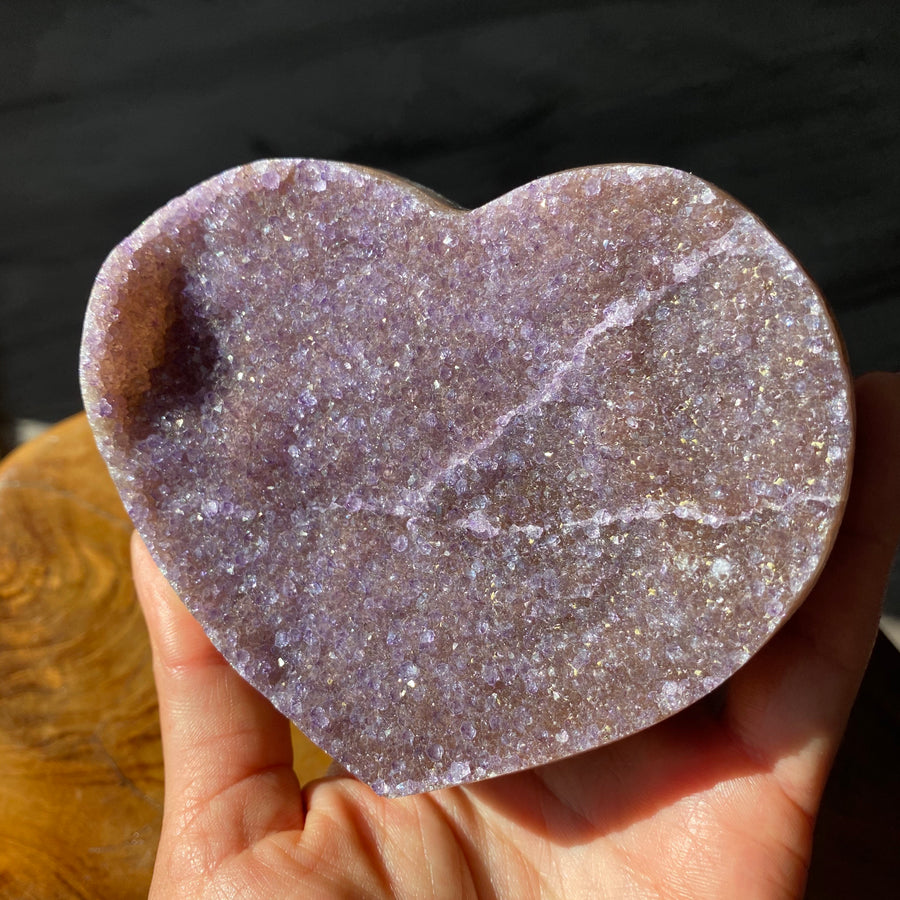 Large Amethyst Heart