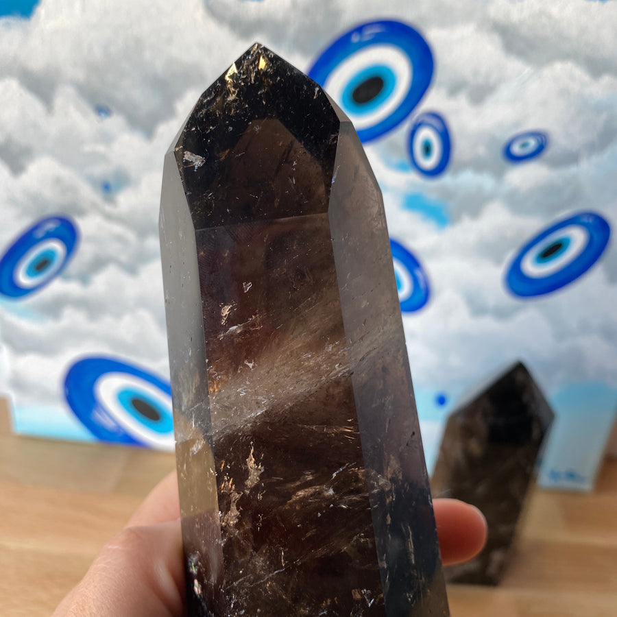 Saturated Smoky Quartz Tower