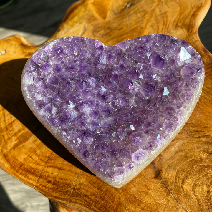 XL Amethyst Heart