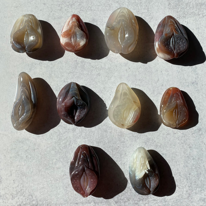 Agate Yoni Carving Collection