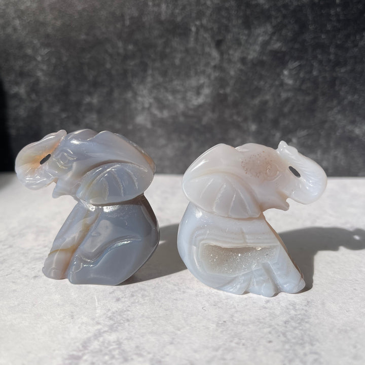 Small Agate Elephant
