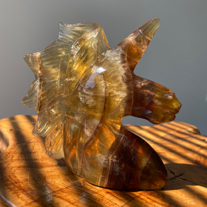 Yellow Fluorite Unicorn