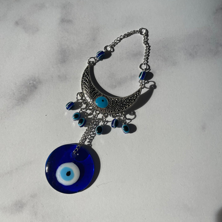 Crescent Moon Evil Eye Wall Hanging