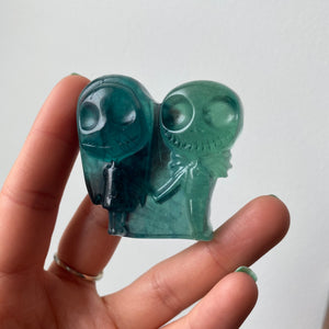 Fluorite Jack & Sally Holding Hands