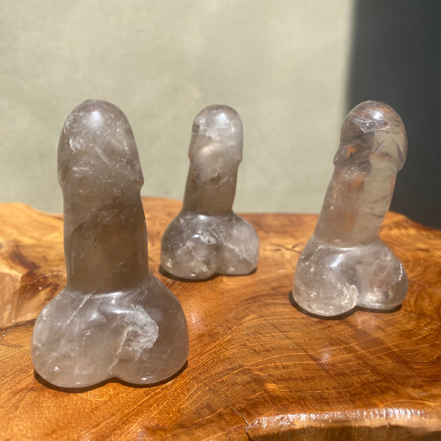 Small Smoky Quartz Phallus 3 Inch