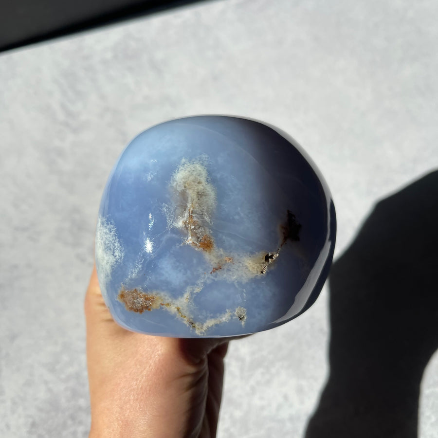 XL Blue chalcedony free form