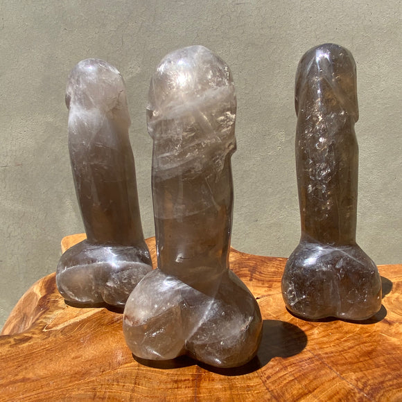 Smoky Quartz Crystal Phallus 6 Inches