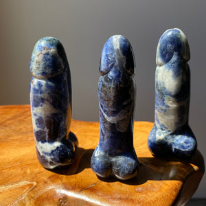 Sodalite Crystal Phallus Carving 3 Inches