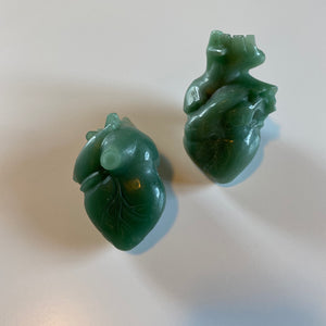 Green Aventurine Anatomical Heart