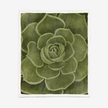 Load image into Gallery viewer, Olive Succulent Sherpa Blanket