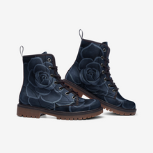 Load image into Gallery viewer, Cobalt Succulent Combat Boots