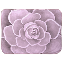 Load image into Gallery viewer, Light Pink Succulent Infant Sherpa Blanket