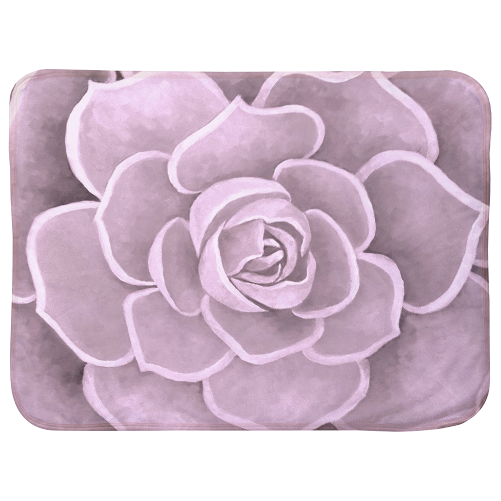 Light Pink Succulent Infant Sherpa Blanket