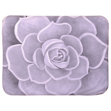 Load image into Gallery viewer, Lilac Succulent Infant Sherpa Blanket