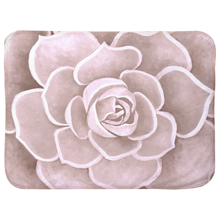 Load image into Gallery viewer, Blush Succulent Infant Sherpa Blanket
