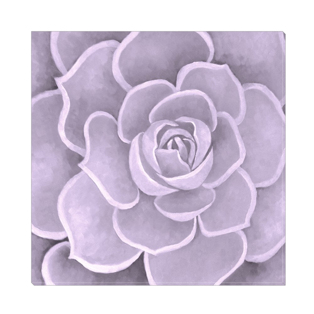 Lilac Succulent Canvas Artwork