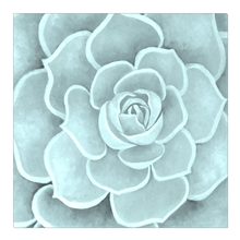Load image into Gallery viewer, Seafoam Succulent Canvas Artwork