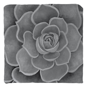 Grey Succulent Throw Pillows