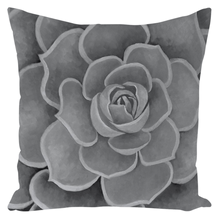 Load image into Gallery viewer, Grey Succulent Throw Pillows