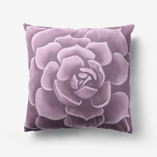 Load image into Gallery viewer, Lavender Succulent Throw Pillow