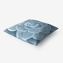 Load image into Gallery viewer, Powder Blue Succulent Throw Pillow