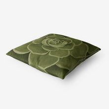 Load image into Gallery viewer, Olive Succulent Throw Pillow