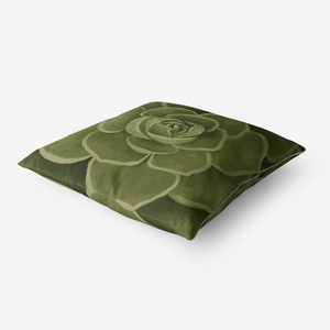 Olive Succulent Throw Pillow