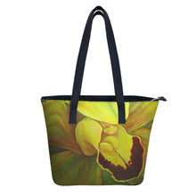 Load image into Gallery viewer, Chartreuse Orchid Handbag