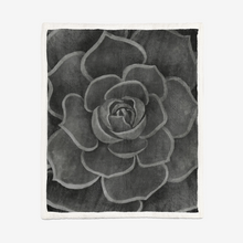 Load image into Gallery viewer, Charcoal Succulent Sherpa Blanket