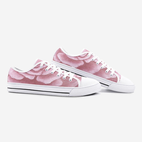 Pink Rose Low Top Canvas Shoes