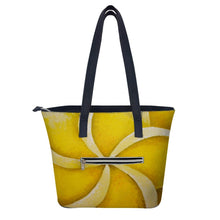 Load image into Gallery viewer, Yellow Plumeria Handbag