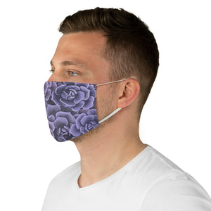 Purple Succulents Face Mask