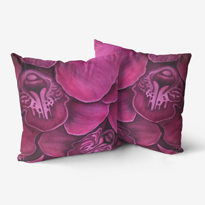 Fuchsia Orchid Throw Pillow
