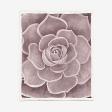 Load image into Gallery viewer, Blush Succulent Sherpa Blanket