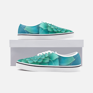 Turquoise Succulent Loafer Sneakers