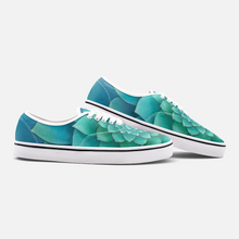 Load image into Gallery viewer, Turquoise Succulent Loafer Sneakers