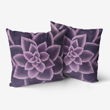 Load image into Gallery viewer, Plum Succulent Throw Pillow